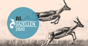 Gazelle Award 2020 logo with two deers jumping on the background