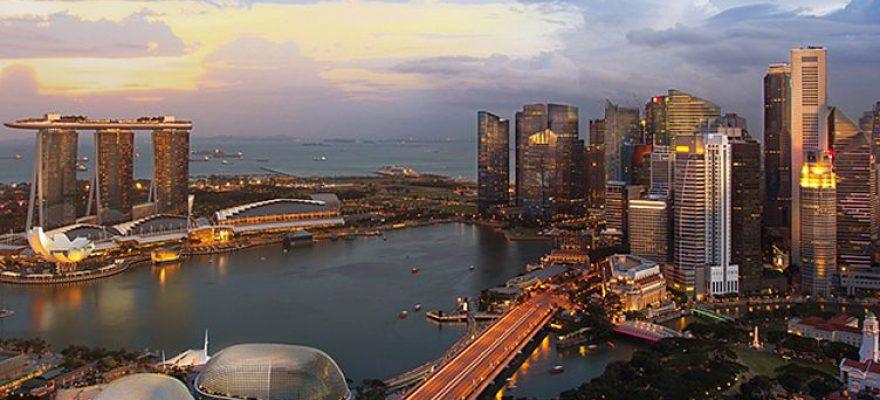 Sky image of Singapore