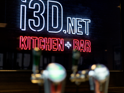 Kitchen and bar at i3D.net office